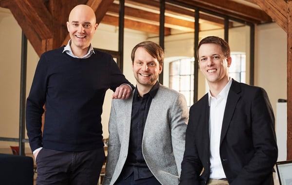 Gründer & Geschäftsführer quantilope von links  Dr. Peter Aschmoneit (CEO), Dr. Thomas Fandrich (COO), Dr. Lucas Bremer (CDO) kl